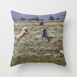 Something's Going On Throw Pillow