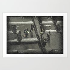 The Curious Case Of Mr Keyboard Art Print