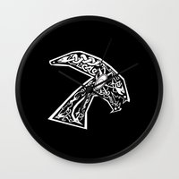 celtic Wall Clocks featuring Celtic xenomorph by ronnie mcneil