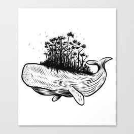 Life on a whale Canvas Print