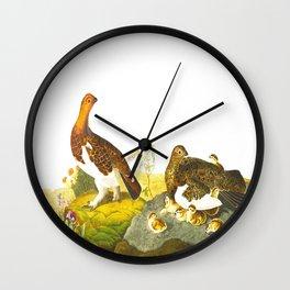 Willow Grouse, or Large Ptarmigan Bird Wall Clock