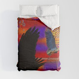 Sunset on Lake Wendouree - Australian Aboriginal Art Theme Comforters