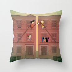 The Nick Yorkers in April Throw Pillow
