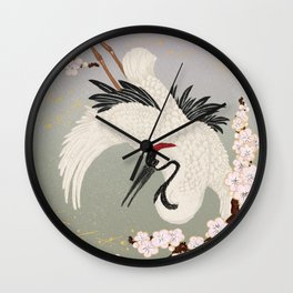 Japanese Crane Wall Clock