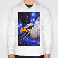 eagle Hoodies featuring Eagle by Saundra Myles