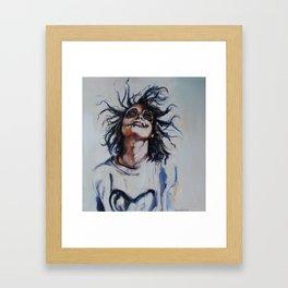 Skeleton Girl Framed Art Print