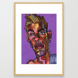Louie After His Shower Framed Art Print