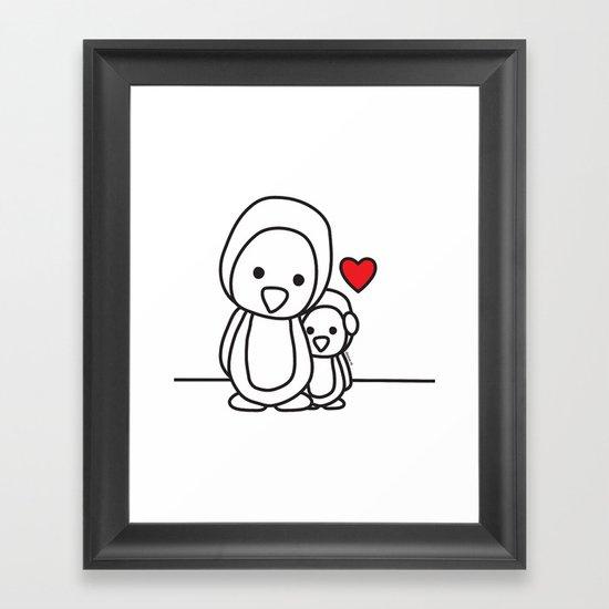 Penguin Sweetness Framed Art Print