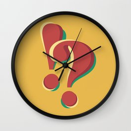 ! & ? (doubts and emotions) Wall Clock