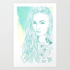 Summer tattoo Art Print