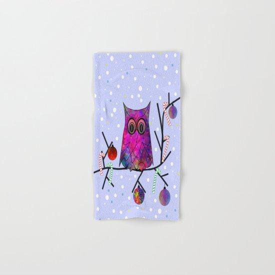 The Festive Owl Hand & Bath Towel