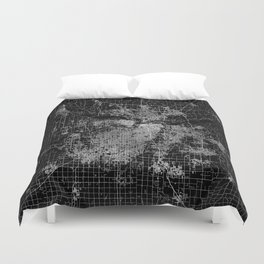 Kansas City map Duvet Cover