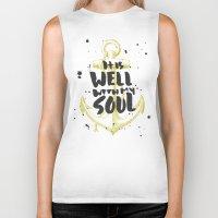 scripture Biker Tanks featuring It is Well With My Soul by Zeke Tucker