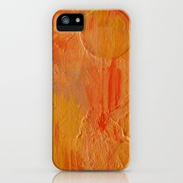 Orange Abstract Painting iPhone Case