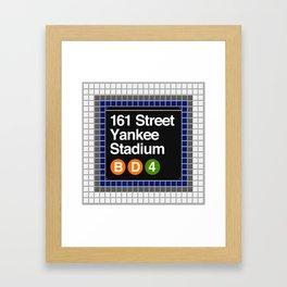 subway yankee stadium sign Framed Art Print