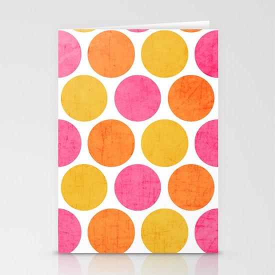 summer polka dots Stationery Cards