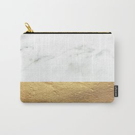 Color Blocked Gold & Marble Carry-All Pouch