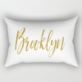 Brooklyn Typographic Poster Rectangular Pillow