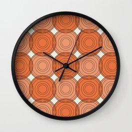 Red & Orange Circles Wall Clock
