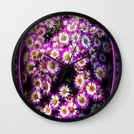 Flower Brooch Wall Clock