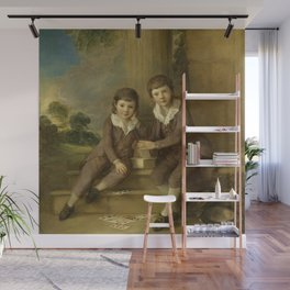"Thomas Gainsborough ""Double portrait of Master John Truman Villebois and his brother Henry"" Wall Mural"