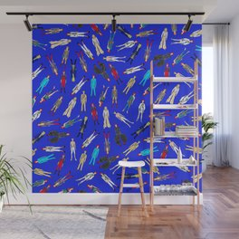 Blue Heroes Group Fashion Outfits Wall Mural