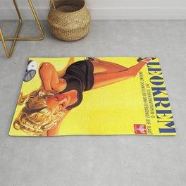 1939 Keokrem German Skincare Suntan Lotion Vintage Advertising Poster  Rug
