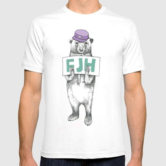 FJH-bear sign T-shirt