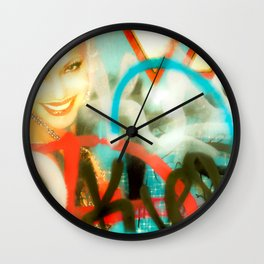 City Punk Pinup Wall Clock