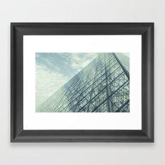 Louvre Pyramid Paris Framed Art Print