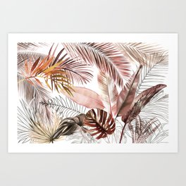 Tropical Foliage 03 Art Print