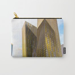 twin yellow buildings at Las Vegas, USA Carry-All Pouch
