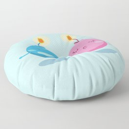 Our love is the bomb Floor Pillow