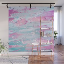 Shine Shimmer Pastel Pink and Blue Modern Wall Mural