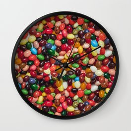 Gourmet Jelly Beans Candy Photo Pattern Wall Clock