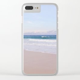 Lavender Beach + Shore Clear iPhone Case