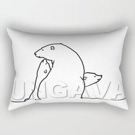 The Ungava Collection: The Polar Bear Family Rectangular Pillow