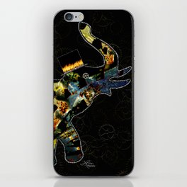 Steampunk Elephant, Scanography Art iPhone Skin