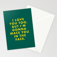 The Darjeeling Limited - I love you too, but I'm gonna mace you in the face Stationery Cards