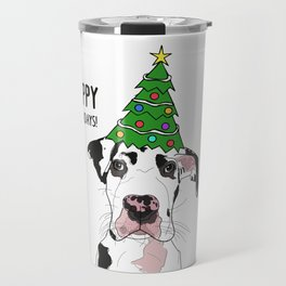 Happy Howlidays Great Dane Travel Mug