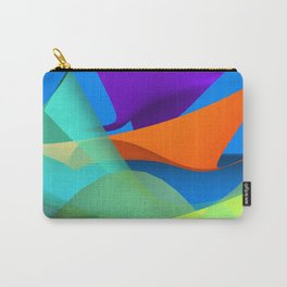 waves over blue Carry-All Pouch