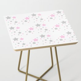 Pink Grey Gray Stars Side Table