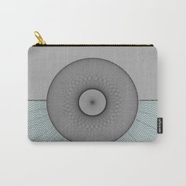 Grey turquoise shape Carry-All Pouch