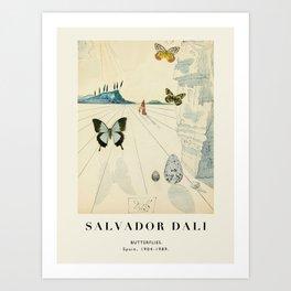 Poster-Salvador Dali-Butterflies. Art Print