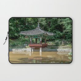 The aeryeonjeong in the Aeryeonji Pond of the secret garden_Changdeokgung Palace Laptop Sleeve