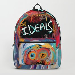Ideals are bulletproof my dear Street Art Graffiti Backpack