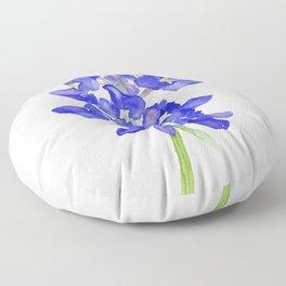 Bluebonnet Watercolor Floor Pillow