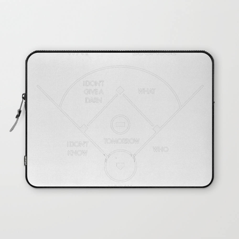Abbott - Costello Who's On First , What's On Secon… Laptop Sleeve LSV8878753