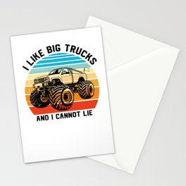 Monster Truck I Like Big Trucks And I Cannot Lie Stationery Cards