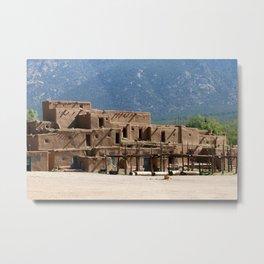 Taos Pueblo Metal Print